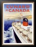 Cunard Line, Canada Art by Charles Eddowes Turner