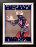 Chocolate Amatller, Marca Luna Posters by Rafael de Penagos