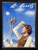 St. Moritz, Snow Ski Posters