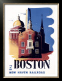 Boston, Massachusetts, New Haven Railroad Posters by Ben Nason
