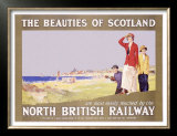 North British Railway, Golf in Scotland Posters