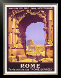 French Railway Travel, Rome Express Poster