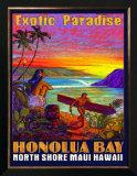 Hawaii, Honolua Bay, Maui Print by Rick Sharp