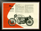 British BSA Manx 30 40 Motorcycle Art