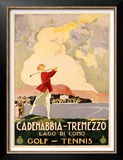 Cadenabbia to Tremezzo, Lago di Como, Golf and Tennis Prints