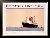 Blue Star Line Prints by Norman Wilkinson