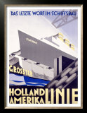 Holland to America Line Print