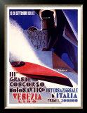 3rd Concorso Motonautico di Venezia Poster by Giuseppe Riccobaldi