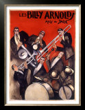 Billy Arnold Jazz Band Music Prints by Paul Colin