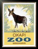 Okapi Copenhagen Zoo Prints