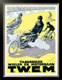 Verschuuren T.W.E.M. Cycling and Motor Race Prints by Charles Verschuuren