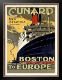 Cunard Line, Boston to Europe Art