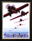 4th International Aviation Meeting, Zurich Posters by Otto Baumberger