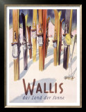 Wallis Winter, Snow and Ski Prints