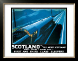 LNER, Scotland by the Night Scotsman, 1932 Posters by Robert Bartlett