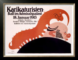 Karikaturisten Ball Prints by  Klinger
