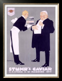 Stuhr&#39;s Caviar Prints by Ludwig Hohlwein
