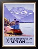 Simplon Electric Train Alps Prints