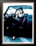 Pin-Up Girl: Tattoo Street Rod Prints by David Perry