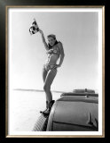 Pin-Up Girl: Bonneville el Mirage Prints by David Perry