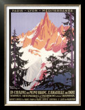 Mont Blanc, Chamonix Posters