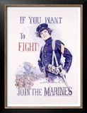 Join the Marines Poster by Howard Chandler Christy