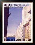 Hamburg to America Line Poster