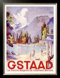 Gstaad Swiss Ski Resort Posters