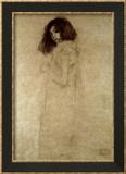 Porträt einer jungen Frau, 1896-97 Poster von Gustav Klimt