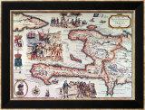 Mapa de la Isla de Haiti, 1789 Láminas