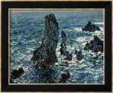 The Rocks at Belle Ile, 1886 Art par Claude Monet