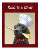 Kiss the Chef Photographic Print by Amy Reges