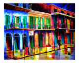 French Quarter Night Giclee Print by Diane Millsap