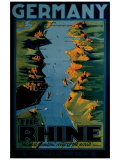 Germany, The Rhine Reproduction procédé giclée par Richard Friese