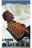 L'Hiver en Suisse Wydruk giclee autor Erich Hermes