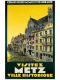 Visitez Metz Giclee Print by H. De Renancourt