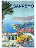 San Remo Giclee Print by Allicari 