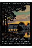 Chenonceaux Giclee Print by Constant Leon Duval