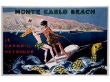Monte Carlo Beach Giclee Print