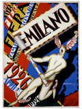 Milano Giclee Print by Achille Luciano Mauzan