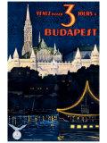 Budapest Giclee Print by Polya Tibor