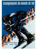 Chamonix World Championships Reproduction procédé giclée par  Constantin
