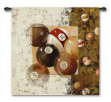 Billiard Balls Wall Tapestry by Fabrice De Villeneuve