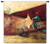 Rolling Home Together Wall Tapestry by Sam Toft