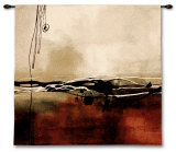 Symphony in Red and Khaki I Wall Tapestry by Laurie Maitland