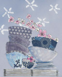 Bowls Print by Helene Druvert