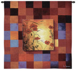Poppy Patterns Wall Tapestry by Don Li-Leger