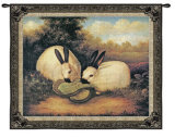 Two Himalayan Rabbits Wall Tapestry