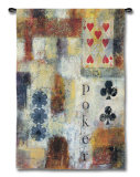 Poker Abstract Wall Tapestry by Jane Bellows
