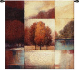 Persimmon Forest Wall Tapestry by Ivo